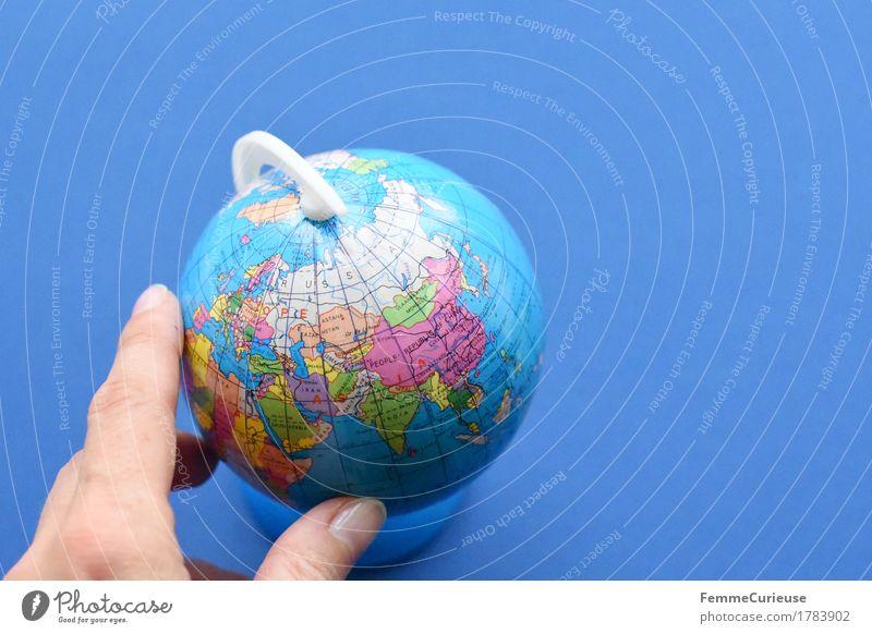 Globus_1783902 Kugel Ferien & Urlaub & Reisen Europa Asien Südostasien Russland China Globalisierung Weltreise Erde Hand Finger festhalten drehen international