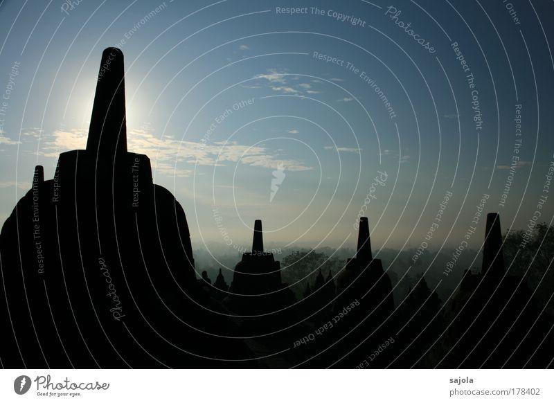 borobudur Ferien & Urlaub & Reisen Stein Gebäude Landschaft Religion & Glaube Architektur Ausflug ästhetisch Tourismus Asien Bauwerk Wahrzeichen Thailand