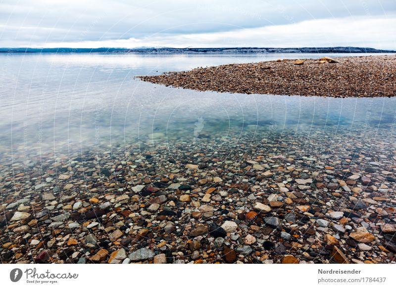 Kaltes, klares Wasser Ferien & Urlaub & Reisen Abenteuer Ferne Freiheit Meer Natur Landschaft Urelemente Wolken Klima Insel Menschenleer Schifffahrt Stein