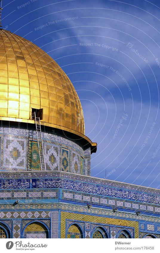 Suche auf dem Dachboden Himmel schön Haus Architektur Religion & Glaube elegant Tourismus gold Schönes Wetter Israel Leiter Sightseeing Dom Gebet