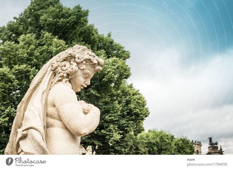Blumenkind Tourismus Städtereise Kunst Kunstwerk Skulptur Kultur Architektur Sehenswürdigkeit Wahrzeichen Denkmal Engel historisch blau grün demütig Glaube
