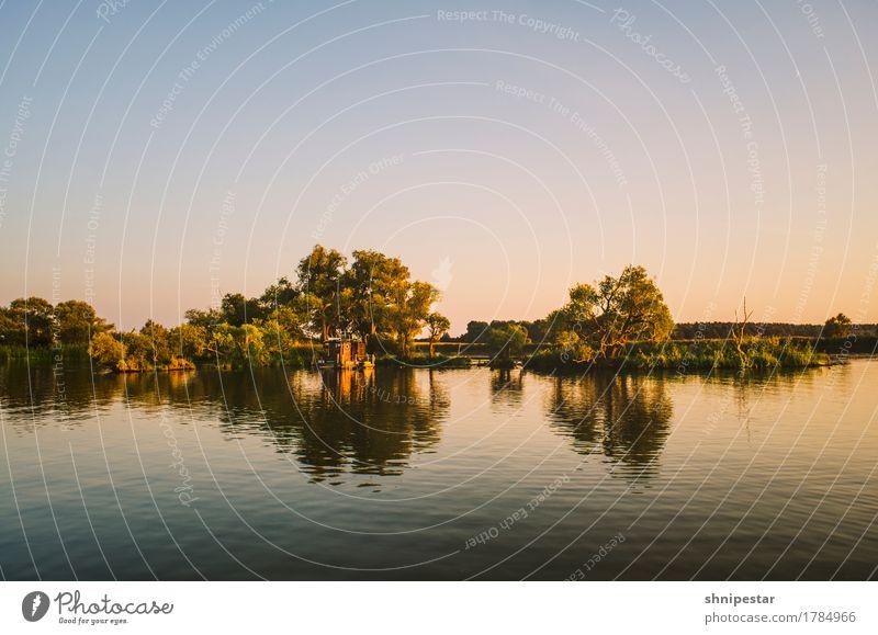Sunset @ River Havel Natur Ferien & Urlaub & Reisen Pflanze Sommer Wasser Landschaft Erholung Ferne Freiheit Schwimmen & Baden Tourismus Freundschaft