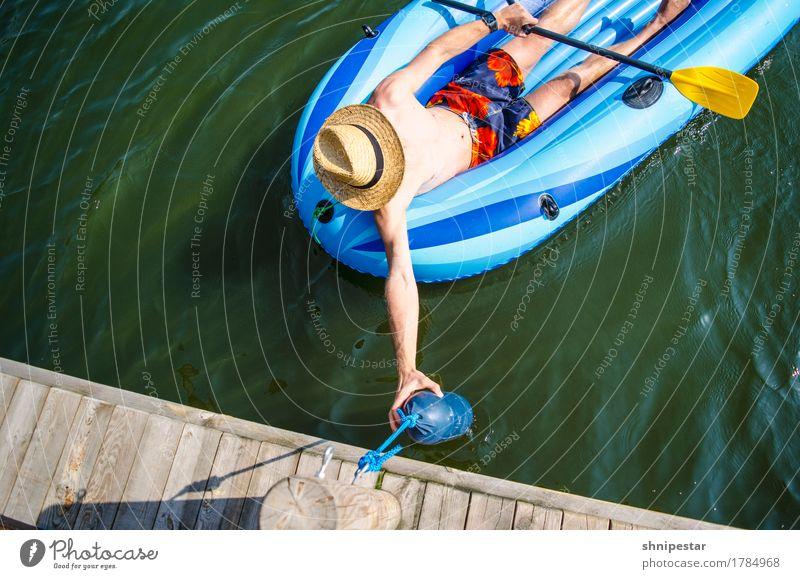 Sicherheitsexperte Mensch Natur Ferien & Urlaub & Reisen Jugendliche Sonne Junger Mann Erwachsene Sport Beine Schwimmen & Baden Freundschaft Wasserfahrzeug