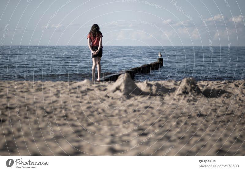 traum Mensch Ferien & Urlaub & Reisen Sommer Meer ruhig Ferne Erholung Leben feminin Spielen Freiheit Kindheit Zufriedenheit Wellen elegant Tourismus