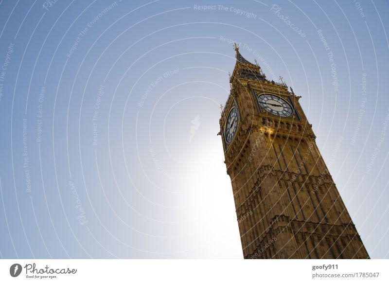 BIG BEN elegant Architektur London England Europa Stadt Hauptstadt Stadtzentrum Skyline bevölkert Palast Turm Bauwerk Gebäude Fassade Sehenswürdigkeit