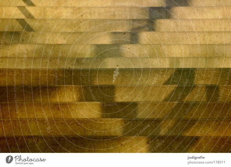 Stufen gelb hell Beton Ordnung Treppe ästhetisch Streifen Bauwerk Kreativität graphisch Raster abstrakt Muster