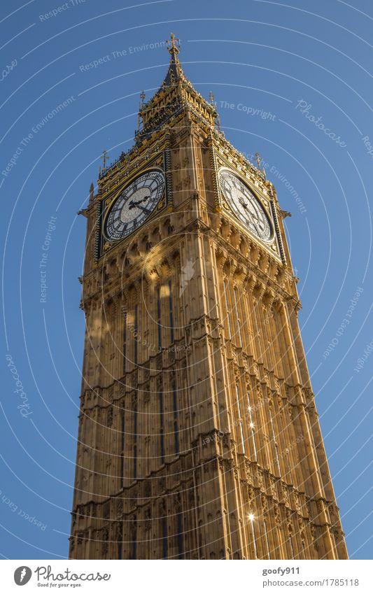 BIG BEN elegant Tourismus Ferne Sightseeing Städtereise London England Europa Stadt Hauptstadt Stadtzentrum Skyline Dom Turm Bauwerk Gebäude Architektur Fassade