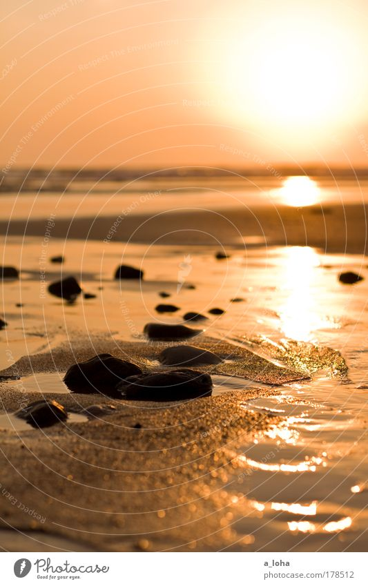 25 Glitzersteine Himmel Natur Wasser schön Meer Strand ruhig Sonnenaufgang Ferne Landschaft Sonnenuntergang Wärme Sand Stein Luft träumen