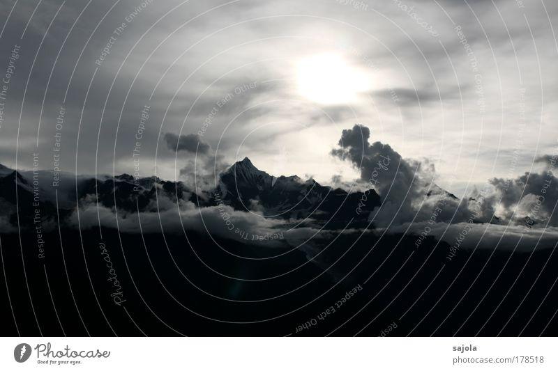 meilixue shan - kawagebo Natur Himmel Sonne Wolken Berge u. Gebirge Landschaft Wetter Umwelt hoch ästhetisch Tourismus Asien Unendlichkeit China Gipfel Respekt