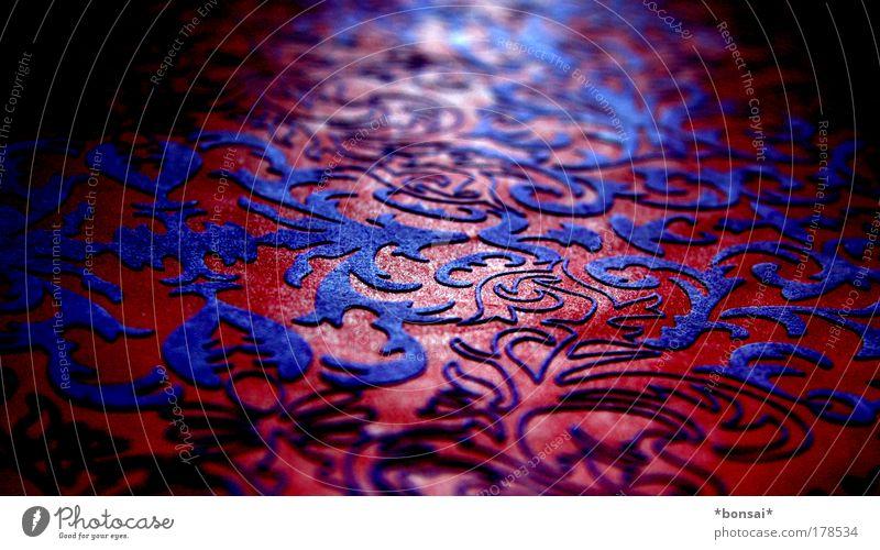 red passion schön rot Linie glänzend verrückt Papier retro nah violett Dekoration & Verzierung dünn Warmherzigkeit trendy Ornament Verpackung