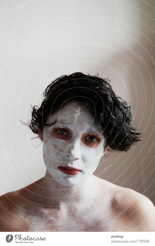 M. Manson ihm seine Frau Mensch Jugendliche schön Einsamkeit Erholung feminin Erwachsene Traurigkeit Zufriedenheit Haut einzigartig Wellness Lebensfreude