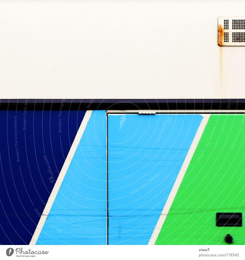 Linienverkehr grün blau Ferien & Urlaub & Reisen Linie Metall Design elegant Verkehr Geschwindigkeit Güterverkehr & Logistik Tourismus Kommunizieren authentisch einfach Streifen einzigartig