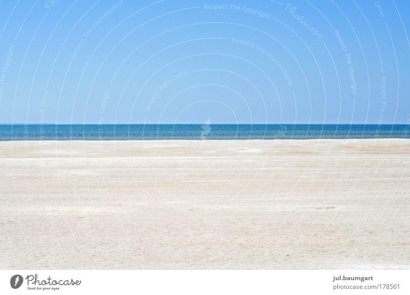 Klare Aussicht Natur Wasser Meer blau Sommer Strand Ferien & Urlaub & Reisen Ferne Glück Wärme Sand Landschaft Ausflug Fernweh Wolkenloser Himmel
