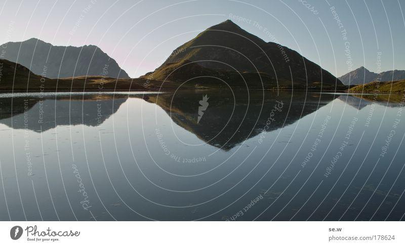 Der Seekogel Natur Sommer Ferien & Urlaub & Reisen ruhig Einsamkeit Berge u. Gebirge Romantik Alpen Sehnsucht Gipfel Fernweh Wolkenloser Himmel