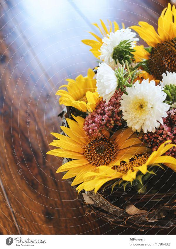 herbstdeko Herbst blumengesteck blüten Herbstmarkt Dekoration & Verzierung Sonnenblume Blume Tisch Geschenk gelb mehrfarbig Blumenstrauß schön Duft