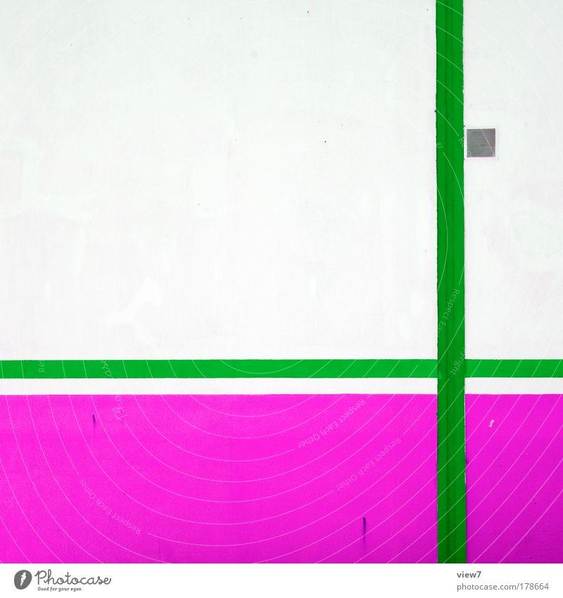 + pink grün schön Haus Farbe Wand Mauer Stein hell Linie rosa Fassade Beton modern Industrie Streifen einzigartig