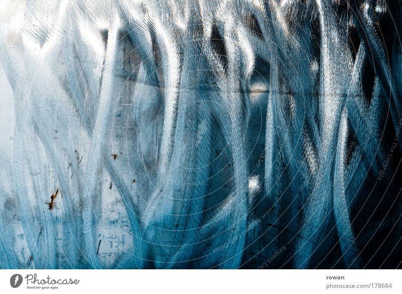 Stahlgestrüpp blau schwarz kalt Gras Linie Wachstum Technik & Technologie fest chaotisch Material durcheinander Oberfläche hart Bürste