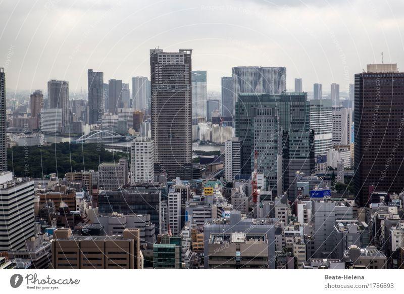 Tokios schwindelnde Höhen Stadt Lifestyle außergewöhnlich Wohnung Horizont Häusliches Leben Wachstum Hochhaus kaufen Unendlichkeit Höhenangst Skyline Asien