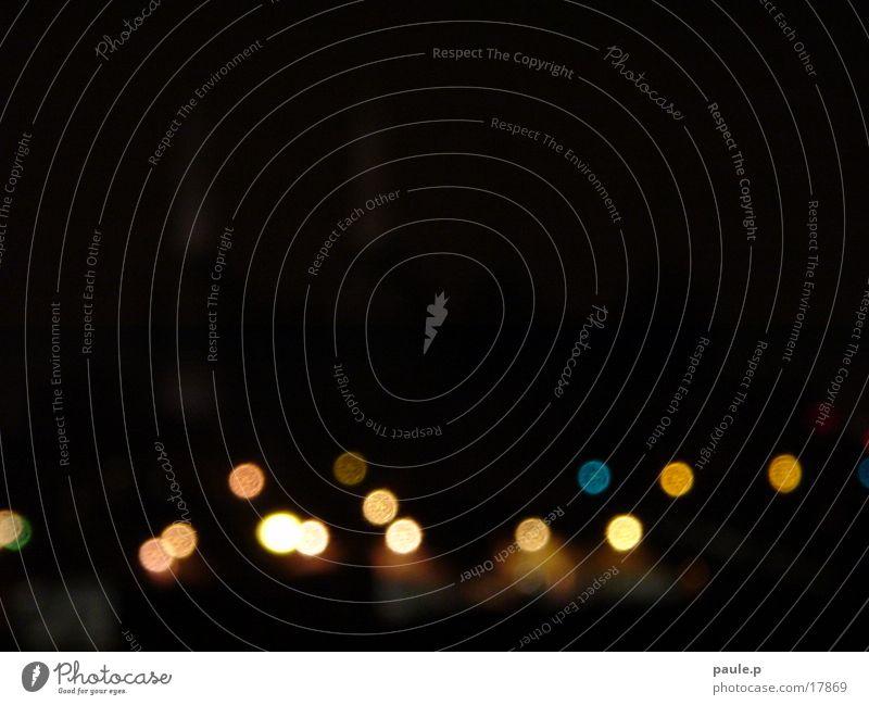 Licht-Farb-Punkte dunkel Nacht Fototechnik Farbe
