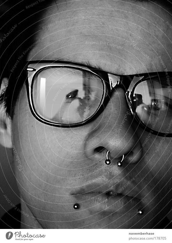 Hauptberuf: Brillenputzer Mensch Jugendliche schön Gesicht Erwachsene Auge Haare & Frisuren Mund Haut maskulin Nase Design 18-30 Jahre Bildung Ohr