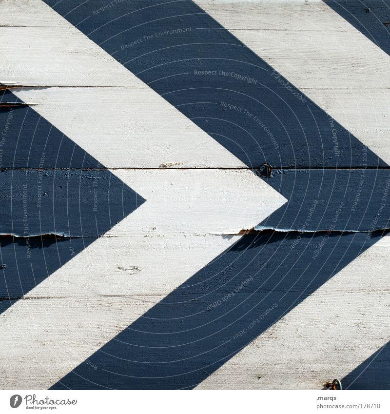 Fast Forward blau weiß Holz Linie Schilder & Markierungen Design Streifen einfach Grafik u. Illustration Pfeil Verfall Symmetrie eckig Genauigkeit