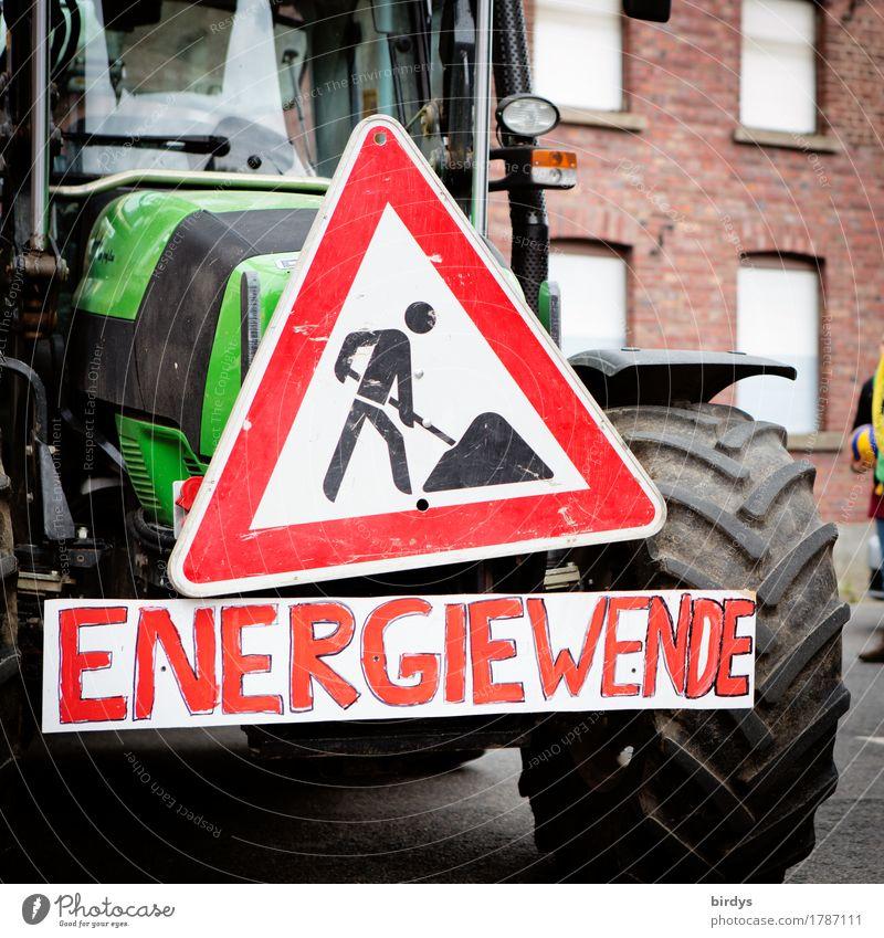 wie fahren mit angezogener Handbremse Straße Bewegung Energiewirtschaft Schriftzeichen authentisch Zukunft Hinweisschild Zeichen planen Baustelle Landwirtschaft