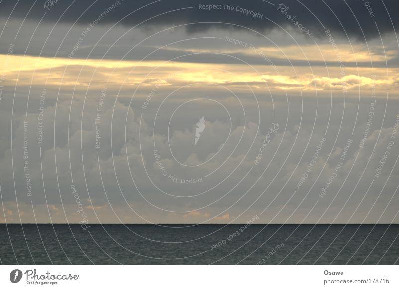 Wetter Wasser Himmel Meer blau schwarz Wolken dunkel grau See Himmel (Jenseits) Regen Landschaft Urelemente Ostsee Nordsee