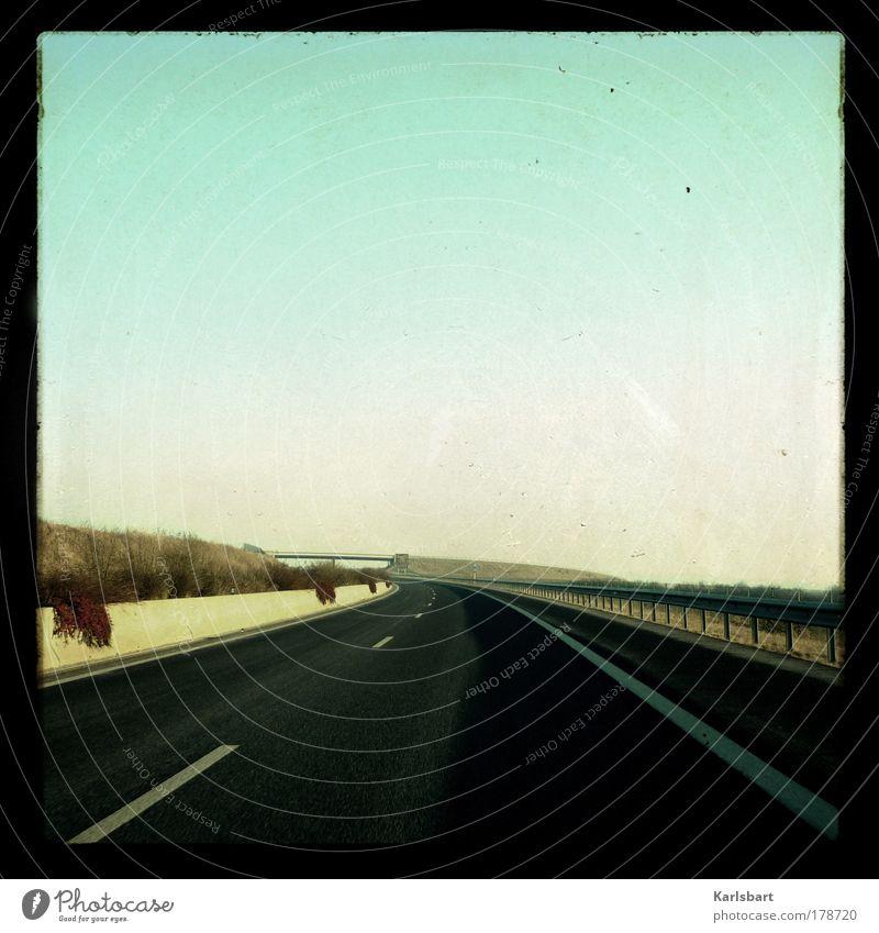 highway. luxembourg. Himmel Ferien & Urlaub & Reisen Sommer Einsamkeit Ferne Straße Freiheit Bewegung Wege & Pfade Linie Ausflug Design frei Verkehr Geschwindigkeit Brücke