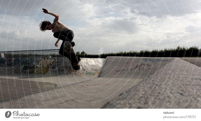 skatebaord-panorama Mensch Jugendliche Freude Erwachsene Leben Sport Stil Arme Beton maskulin groß 18-30 Jahre Skateboarding Lebensfreude Kontrolle