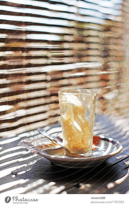 cafe leche leche. Ferien & Urlaub & Reisen Erholung Kunst ästhetisch genießen Pause Getränk Kaffee trinken lecker Spanien Kunstwerk Kaffeetasse Kaffeetrinken