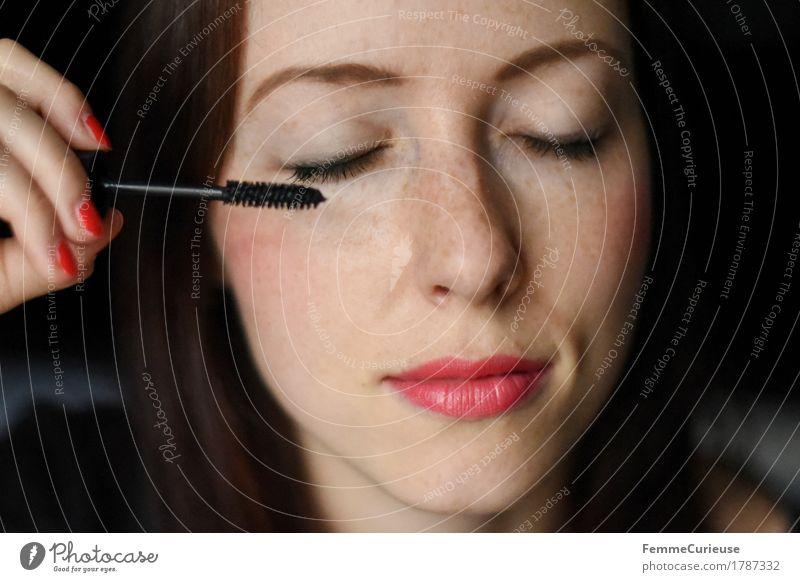MakeUp_1787332 Mensch Frau Jugendliche schön Junge Frau 18-30 Jahre schwarz Gesicht Erwachsene natürlich feminin 13-18 Jahre Haut Körperpflege Kosmetik Schminke