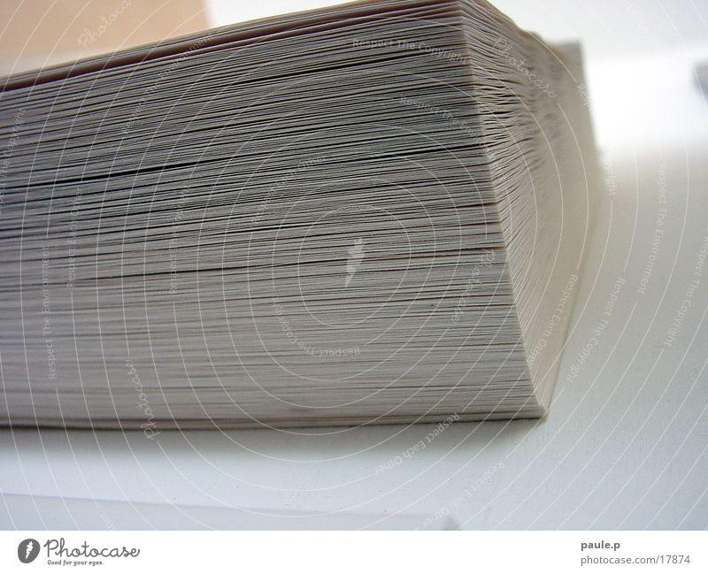 Papierstapel Blatt Papier obskur Stapel