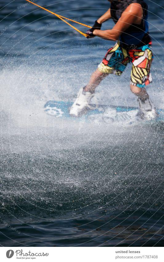 AK# Wassersport II Kunst ästhetisch Sport sportlich Sportler Sport-Training Sportveranstaltung Sportgerät Wasseroberfläche ziehen Kraft Bewegung festhalten