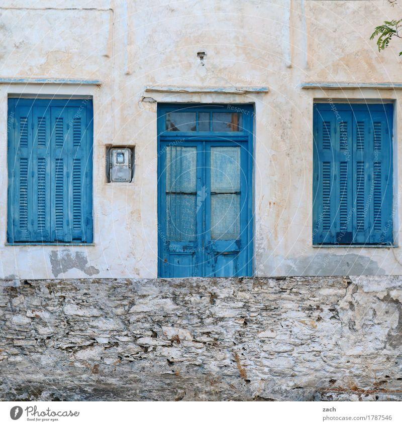 Der Charme des Maroden Wohnung Haus Renovieren Meer Ägäis Insel Kykladen Siphnos Sifnos Griechenland Dorf Altstadt Menschenleer Traumhaus Ruine Mauer Wand