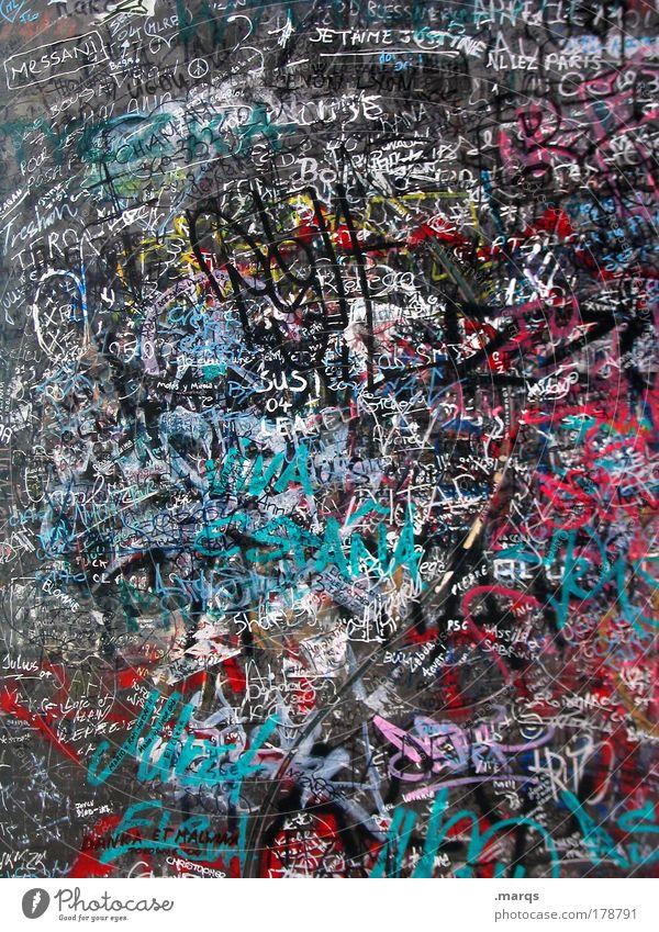 I was here Graffiti Stil abstrakt elegant Design außergewöhnlich Schriftzeichen Coolness einzigartig schreiben Information Zeichen Typographie Idee durcheinander