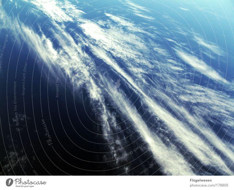 Husten - ich habe ein Problem! Himmel schön Wolken Glück fliegen Horizont Zufriedenheit Wetter Verkehr Luftverkehr Klima einzigartig Schönes Wetter Flugzeug