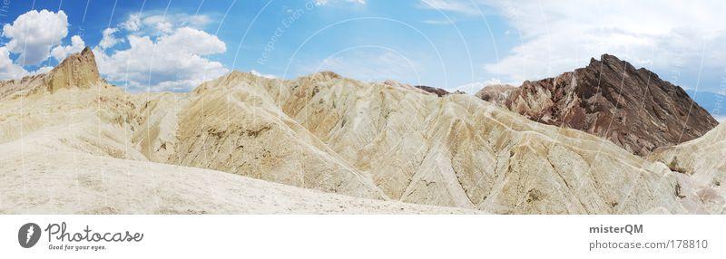 Golden Canyon. Natur Ferien & Urlaub & Reisen Einsamkeit Ferne Berge u. Gebirge Freiheit Landschaft groß hoch Ausflug ästhetisch USA Wüste Klettern fantastisch Gipfel