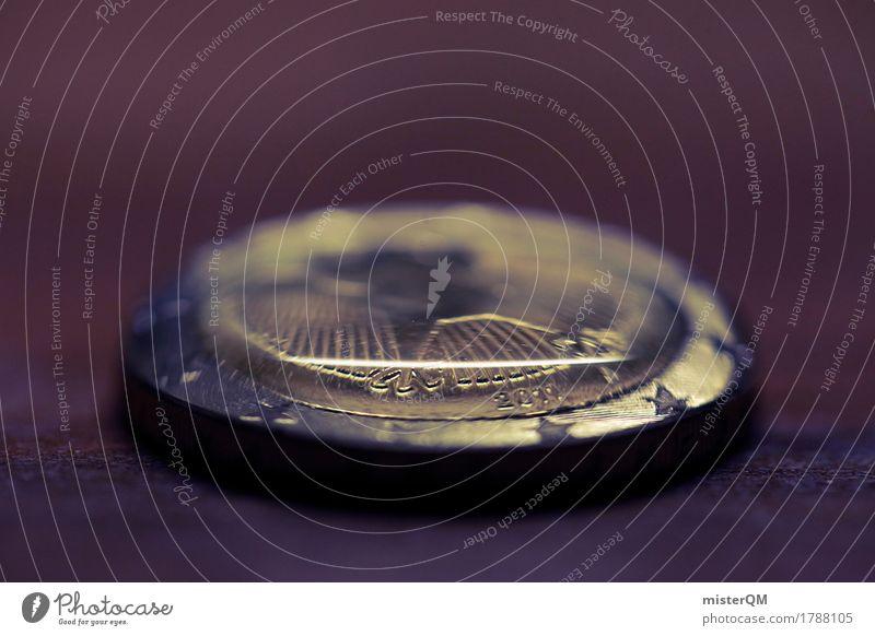 Alles Gold was glänzt III Metall Erfolg Europa Zeichen Geld Risiko Geldinstitut Reichtum Fürsorge Handel Rettung Eurozeichen Geldmünzen Bündnis Geldnot