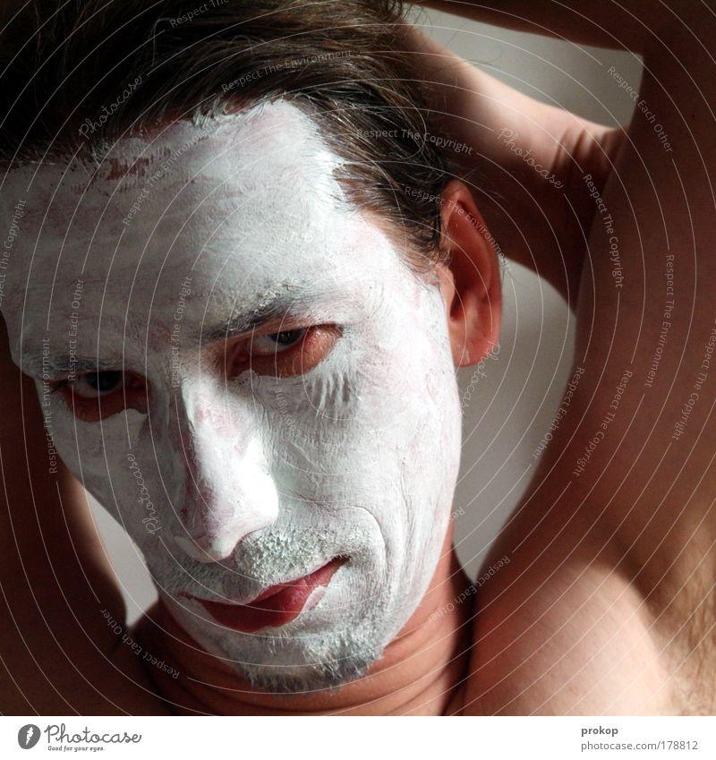 Gleichsetzungsverfahren Mensch Mann schön Gesicht Erwachsene Erholung Gefühle Kopf Haut maskulin einzigartig Wellness rein Kosmetik skurril