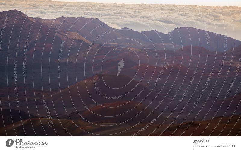 Vulkanlandschaft auf dem Haleakala (Maui/Hawaii) Umwelt Natur Landschaft Erde Sand Luft Wolken Horizont Sonnenaufgang Sonnenuntergang Wetter Schönes Wetter