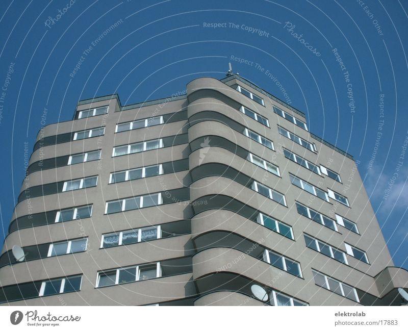 runde ecke blau Berlin Architektur Beton Hochhaus Kreuzberg