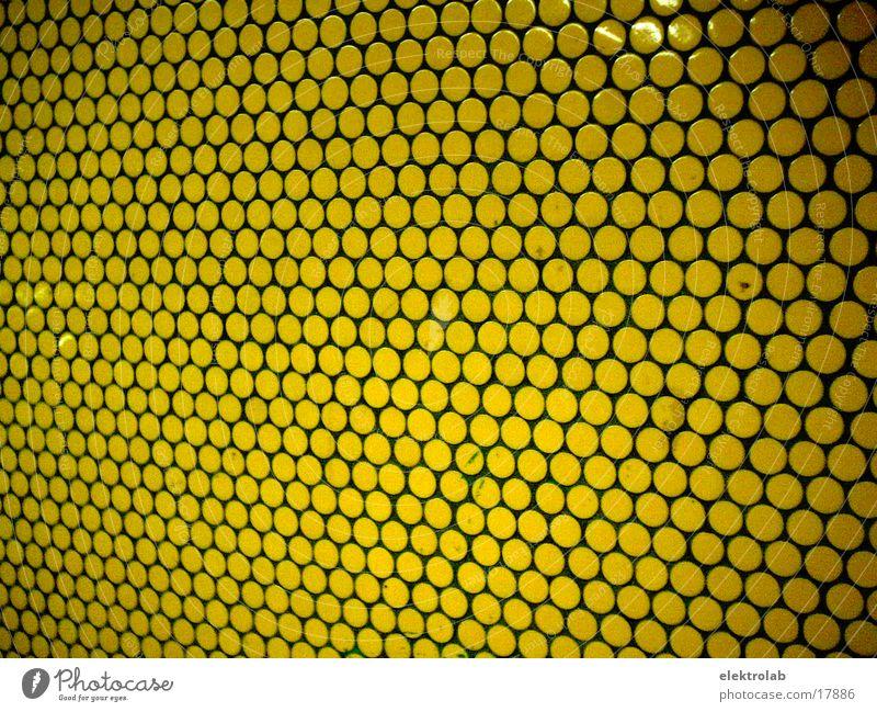 gelbe wand Verkehr rund Fliesen u. Kacheln U-Bahn