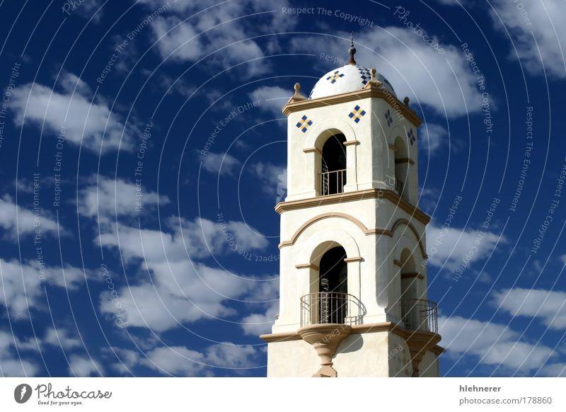 Himmel alt blau Ferien & Urlaub & Reisen Wolken Architektur Gebäude Religion & Glaube Kirche Kultur historisch Tourist Tradition Kalifornien