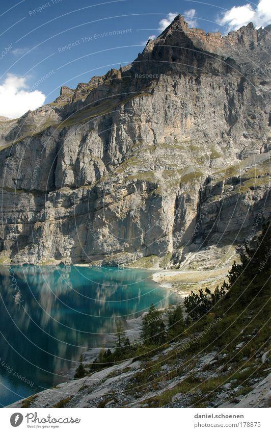 Wandersaison Außenaufnahme Tag Klettern Bergsteigen Natur Landschaft Schönes Wetter Berge u. Gebirge Gipfel See entdecken Erholung Freiheit