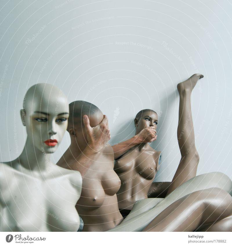 tabu Mensch Jugendliche Hand Gesicht Kosmetik Auge feminin sprechen Kopf Menschengruppe Frau Erwachsene Mund Körper Arme Haut