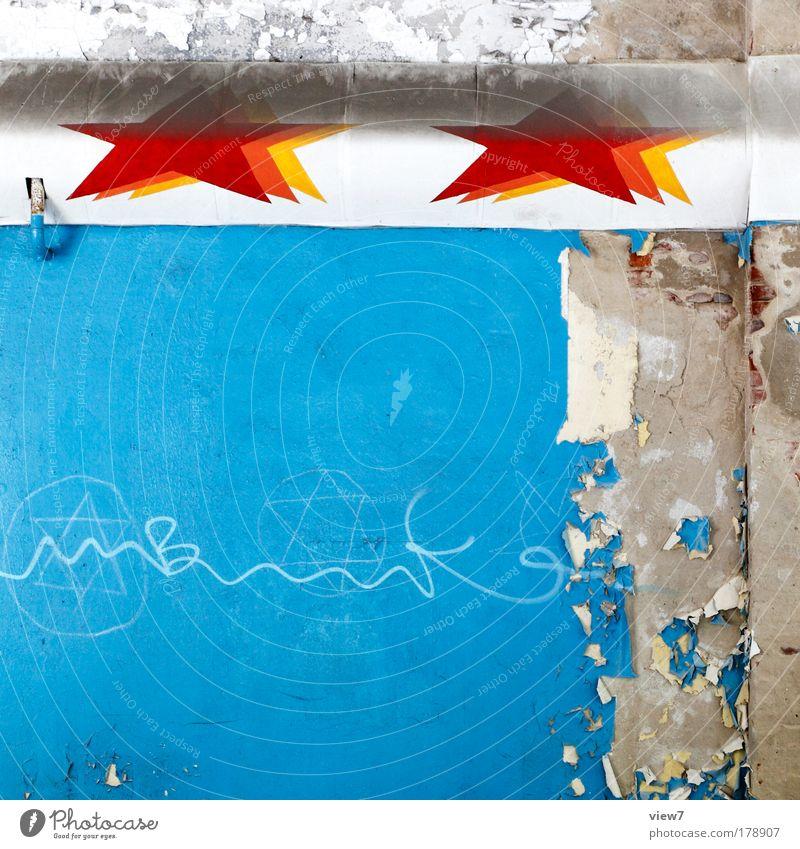 Ringo Stars schön alt blau oben Stein Linie Raum Ordnung ästhetisch authentisch Dekoration & Verzierung gut Häusliches Leben Vergänglichkeit Streifen