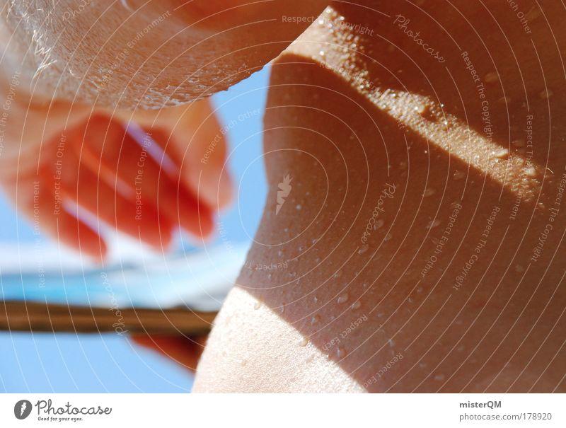 Sonntag. Frau Hand Meer Strand Ferien & Urlaub & Reisen Erholung Arbeit & Erwerbstätigkeit nackt Gefühle Wärme Zufriedenheit Haut Erwachsene Finger