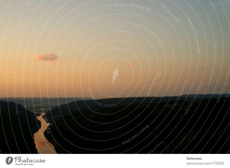 Abfluss Himmel Natur Wasser Sonne Sommer Ferien & Urlaub & Reisen Wolken ruhig Ferne Erholung Freiheit Berge u. Gebirge Landschaft Umwelt Luft Erde