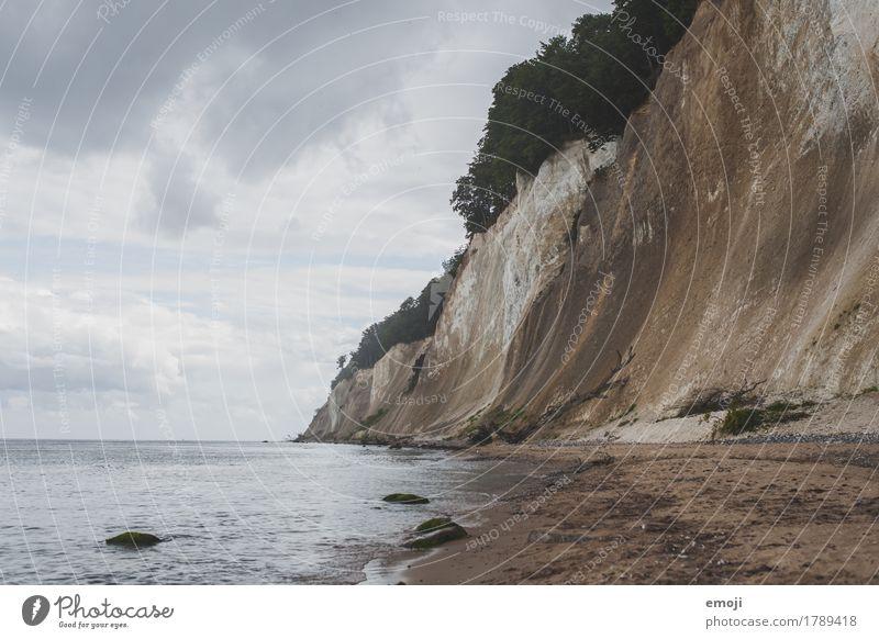 Rügen Umwelt Natur Landschaft Wasser schlechtes Wetter Küste Strand Ostsee Meer natürlich Tourismus Kreidefelsen Felsen Sehenswürdigkeit Farbfoto Außenaufnahme