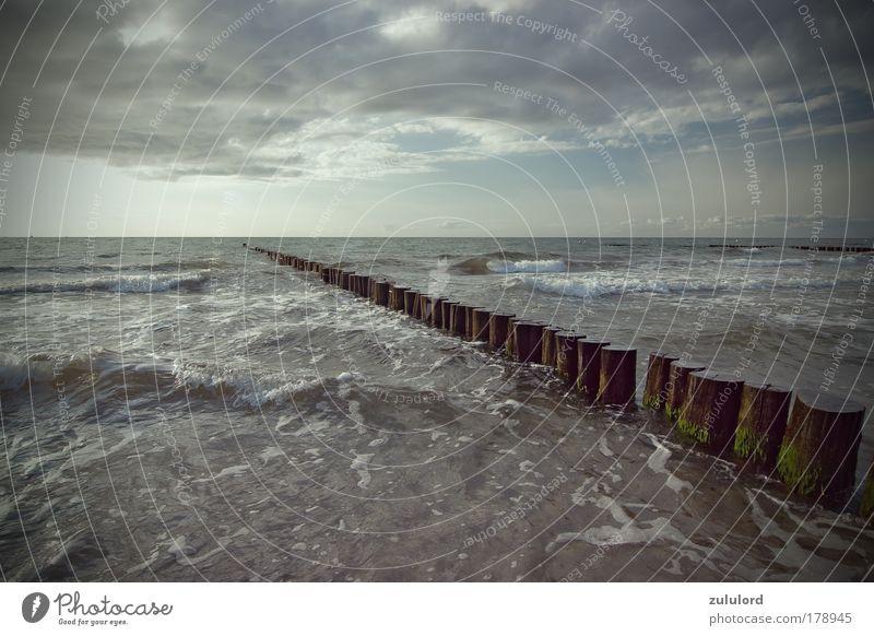 baltic sea Natur Wasser Himmel Sonne Meer blau Sommer Strand Ferien & Urlaub & Reisen Wolken Einsamkeit Ferne Freiheit Wellen Küste Wetter